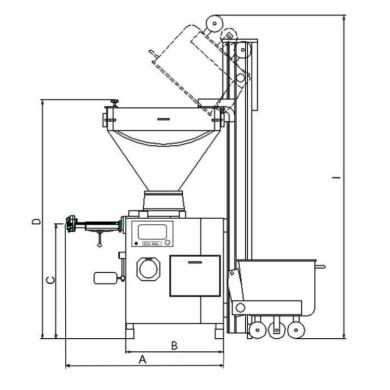 HTS Mast Hebevorrichtung technische Zeichnung